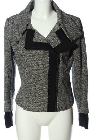 Zara Between-Seasons Jacket light grey-black flecked casual look