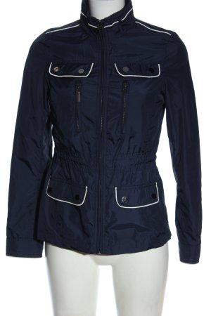 Zara Übergangsjacke blau-weiß Casual-Look