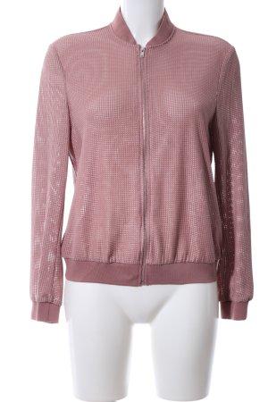 Zara Übergangsjacke pink Webmuster Casual-Look