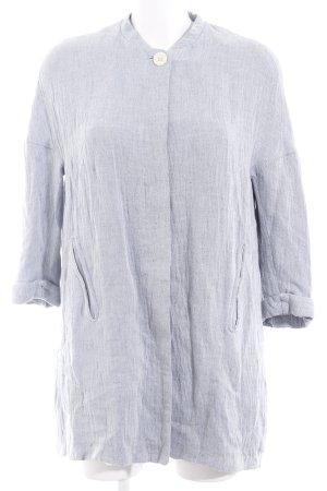 Zara Übergangsjacke wollweiß-graublau meliert Casual-Look