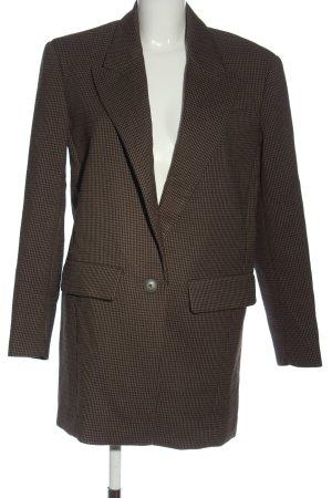 Zara Manteau mi-saison brun-noir imprimé allover style décontracté