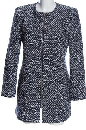 Zara Übergangsmantel blau-weiß Casual-Look