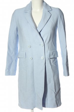 Zara Übergangsmantel blau Streifenmuster Casual-Look