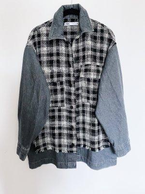 Zara Koszula w kratę szary-czarny