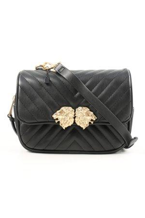 Zara Umhängetasche schwarz Steppmuster Elegant