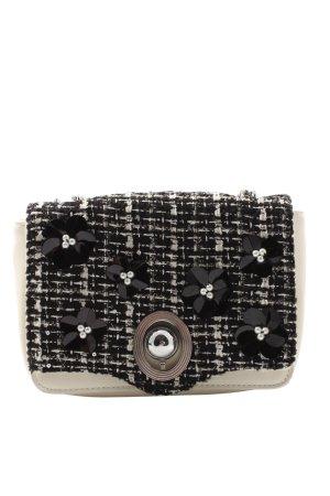 Zara Umhängetasche wollweiß-schwarz Elegant
