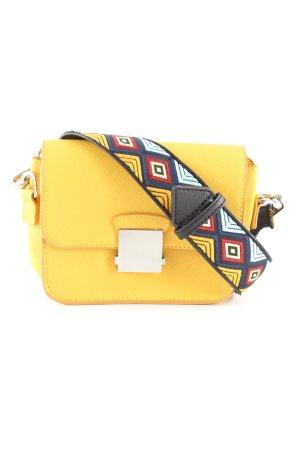 Zara Borsa a spalla giallo pallido stile casual