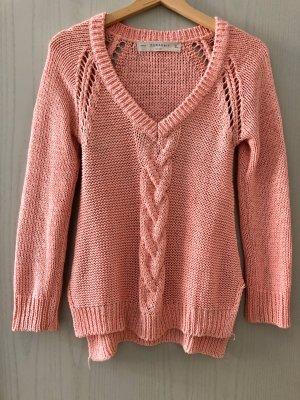 Zara V Auschnitt Pulli Rose/Pink S