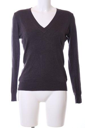 Zara V-Ausschnitt-Pullover schwarz Casual-Look