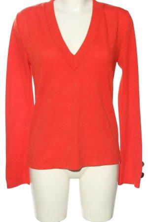 Zara V-Ausschnitt-Pullover rot Casual-Look