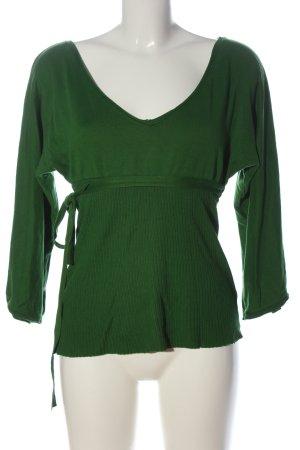 Zara V-Ausschnitt-Pullover grün Casual-Look