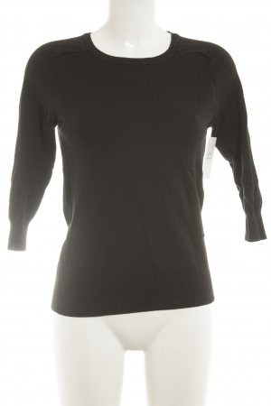Zara V-Ausschnitt-Pullover dunkelblau Casual-Look
