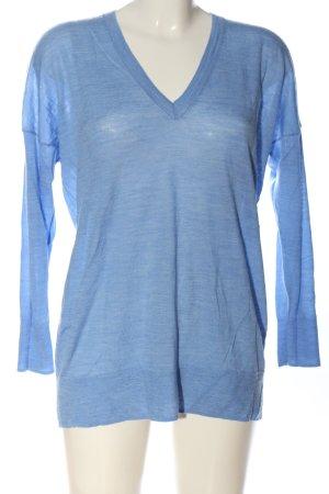 Zara V-Ausschnitt-Pullover blau Casual-Look