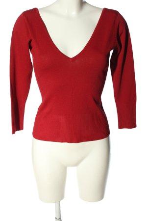 Zara V-hals shirt rood casual uitstraling