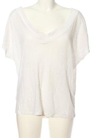 Zara V-Ausschnitt-Shirt wollweiß Casual-Look