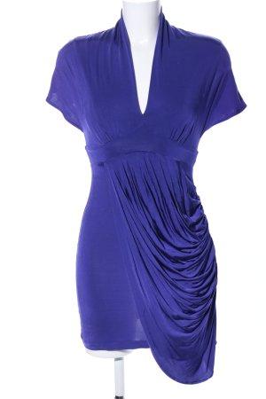 Zara V-Ausschnitt-Shirt blau Elegant