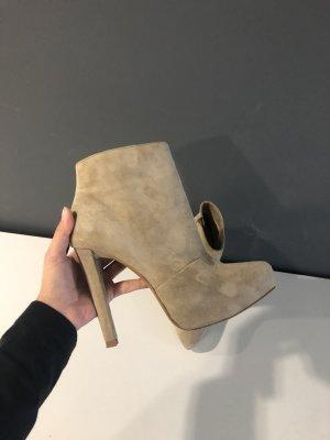 Zara Bottines à plateforme beige cuir