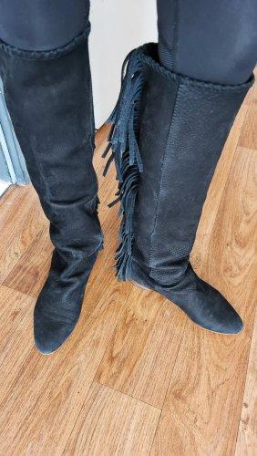 Zara Boots western noir cuir