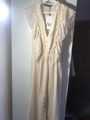 Zara Vintage Kleid beige Neu