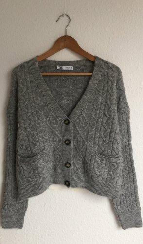 Zara Vintage Style Cardigan Grau S