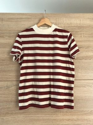 Zara vintage t-shirt, altrot/altweiß gestreift