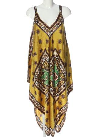 Zara Vokuhila-Kleid abstraktes Muster Casual-Look