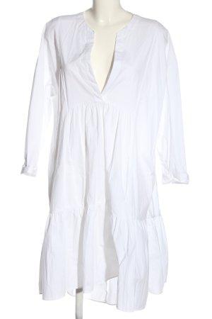 Zara Robe bas asymétrique blanc style décontracté