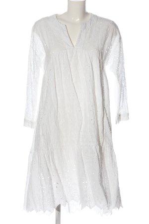 Zara Vokuhila-Kleid weiß Casual-Look