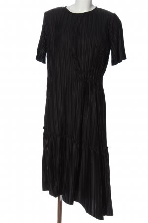Zara Asymetryczna sukienka czarny W stylu biznesowym