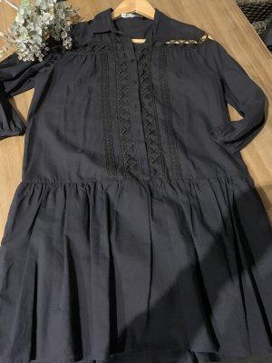 Zara Flounce Dress dark blue