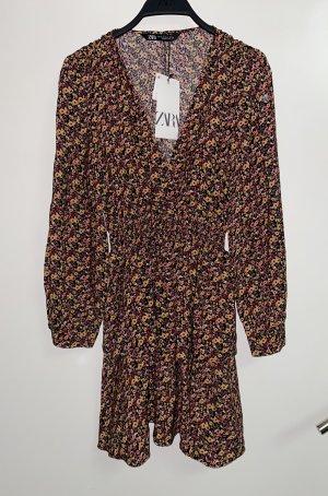 Zara Volant Kleid mit V Ausschnitt S 36