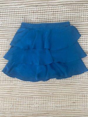 Zara Spódnica z falbanami niebieski