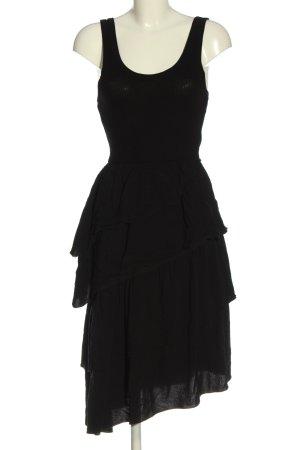 Zara Sukienka z falbanami czarny W stylu casual