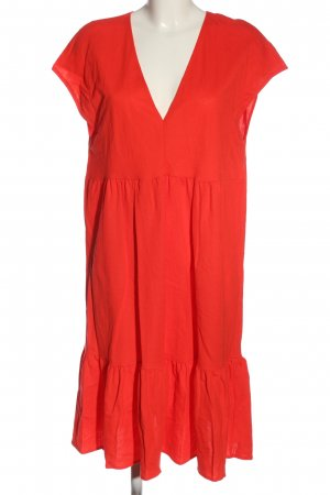 Zara Robe à volants rouge style décontracté