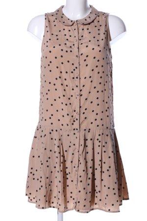 Zara Volantkleid nude-schwarz Punktemuster Elegant