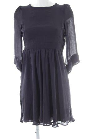 Zara Volantkleid dunkelblau Elegant