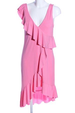 Zara Volantkleid pink Elegant