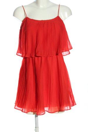 Zara Volantkleid rot Elegant