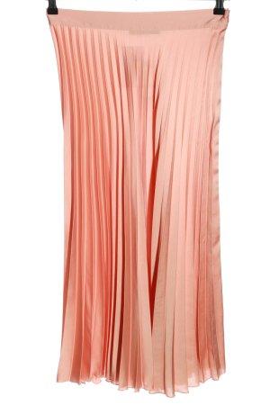 Zara Spódnica z falbanami różowy Styl klasyczny
