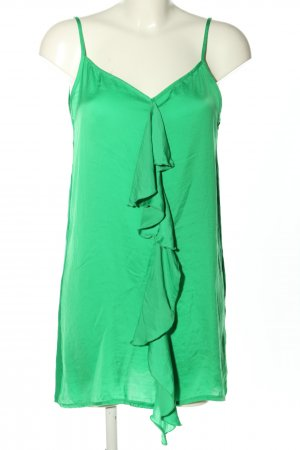 Zara Top con volantes verde look casual
