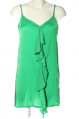 Zara Volanttop grün Casual-Look