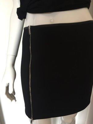 Zara W&B Collection schwarzer Rock mit Zip Gr. L