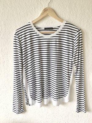 Zara W&B Longsleeve Shirt gestreift marine weiß Gr. XS/S