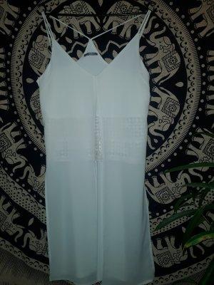 Zara Top largo blanco