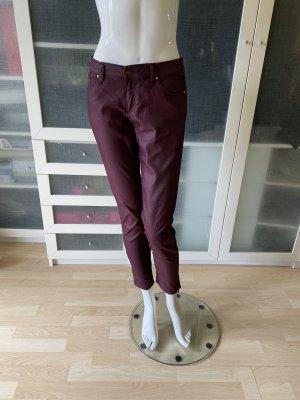 Zara Wachs Biker Jeans aubergine Gr 30