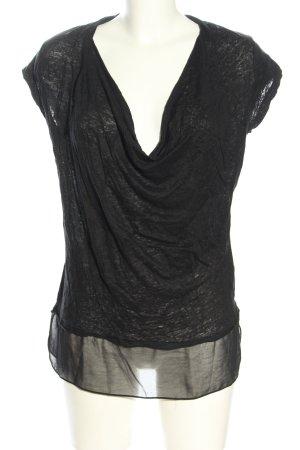 Zara Waterval shirt lichtgrijs gestippeld casual uitstraling