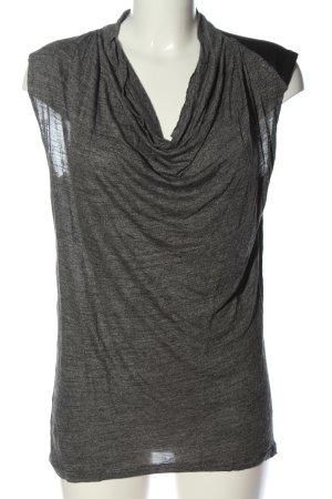 Zara Koszulka z dekoltem woda jasnoszary Melanżowy W stylu casual