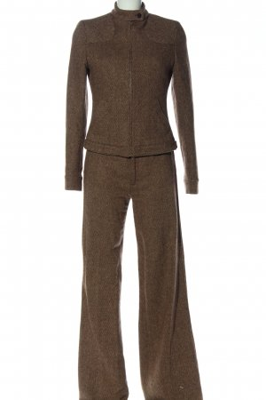 Zara Woven Twin Set brown flecked casual look