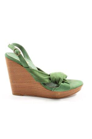 Zara Wedges Sandaletten grün Casual-Look