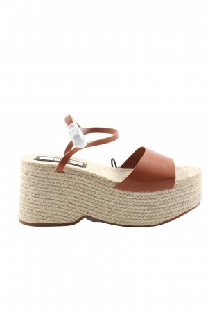 Zara Wedges Sandaletten braun Casual-Look